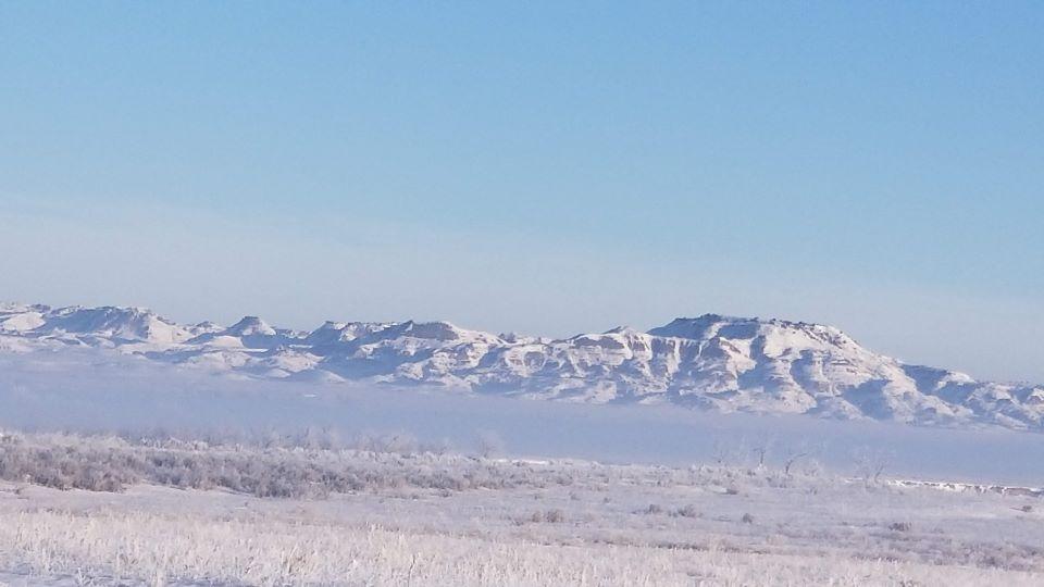snowy badlands